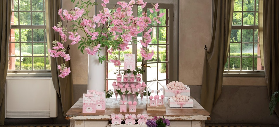 "Boxes for Baptism ""Orsetto Rosa"""