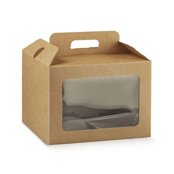 500ml Scatola di Insalata di Cartone Kraft Compostabile Marrone per Ristorante Catering e Feste TOROTON Set di Contenitore per Alimenti da Asporto con Finestra Visiva 50 Pezzi